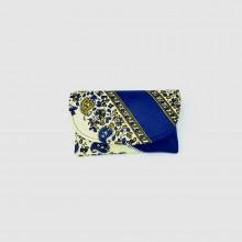 Small Blue Patterned Kitenge Fabric Clutch