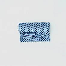 Small Blue Patterned Kitenge Fabric Clutch