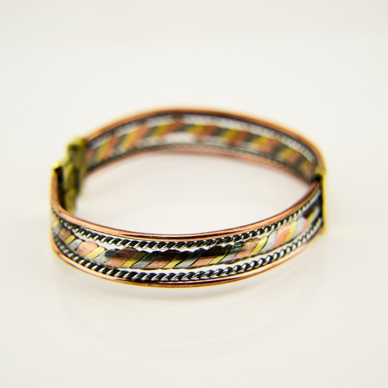 Brass, Copper, aluminium Wire Cuff Bracelet