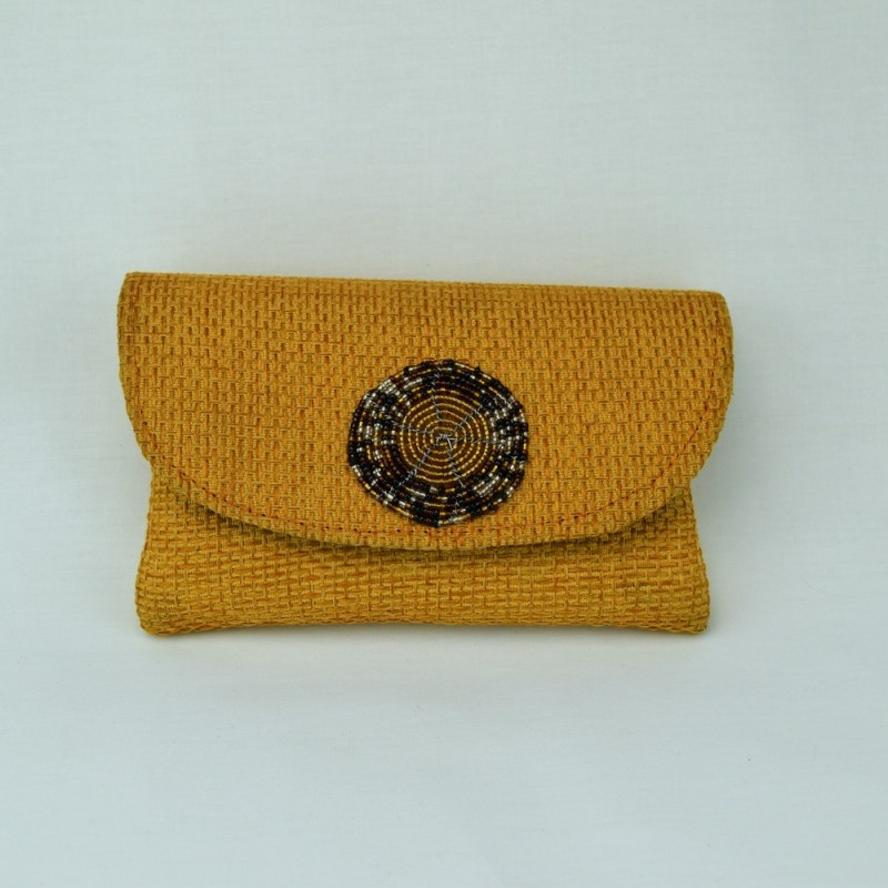 Small Jute Clutch With Maasai Beadwork