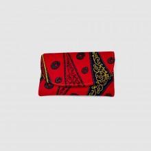 Small Red Kitenge Fabric Clutch