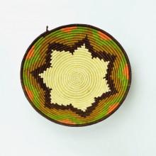 Uganda Handmade Banana Leaf/ Raffia Sunburst Basket