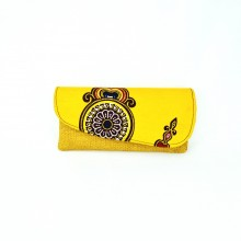 Large Yellow Jute Kitenge Fabric Clutch