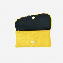 Large Yellow Jute Kitenge Fabric Clutch
