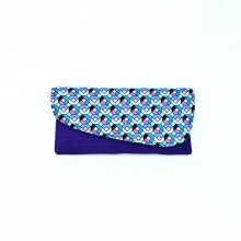 Large Purple Jute Kitenge Fabric Clutch