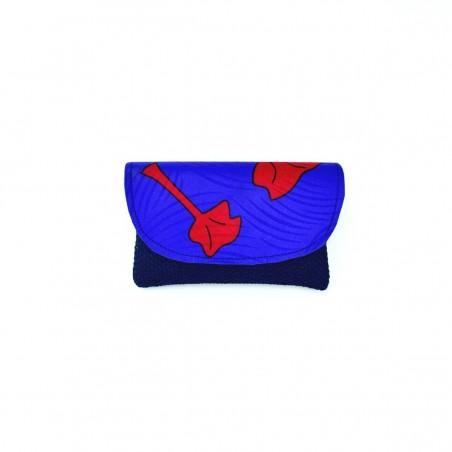 Small Dark Blue Jute Kitenge Fabric Clutch