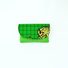 Small Light Green Jute Kitenge Fabric Clutch