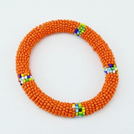Orange Maasai Bracelet