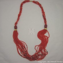 Maasai Red Bead Resin Necklace