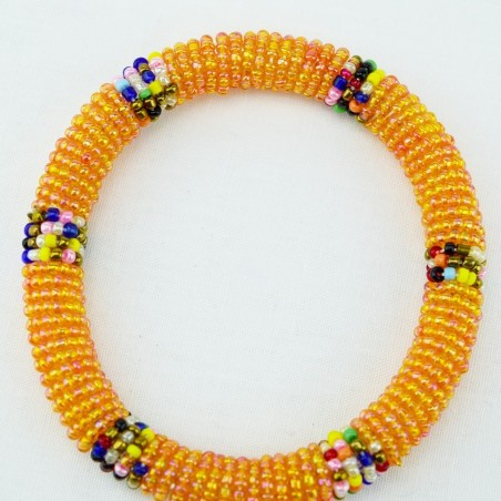 Iridescent Orange Maasai Bracelet