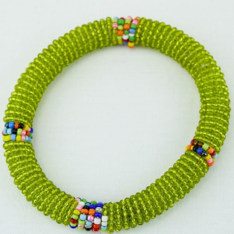 Olive Green Maasai Bracelet