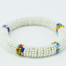 White Maasai Bracelet