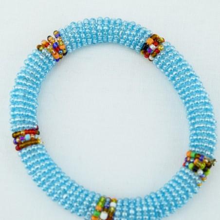 Transparent Blue Maasai Bracelet