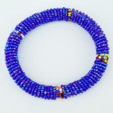 Iridescent Blue Maasai Bracelet