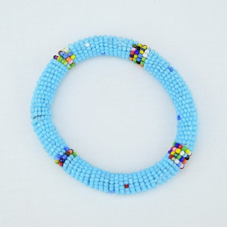 Light Blue Maasai Bracelet