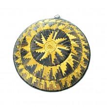 Uganda Handmade Banana Leaf/ Raffia Radiating Sun Basket