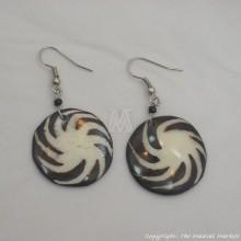 Cow Bone Pin Wheel Maasai Earrings 600-60