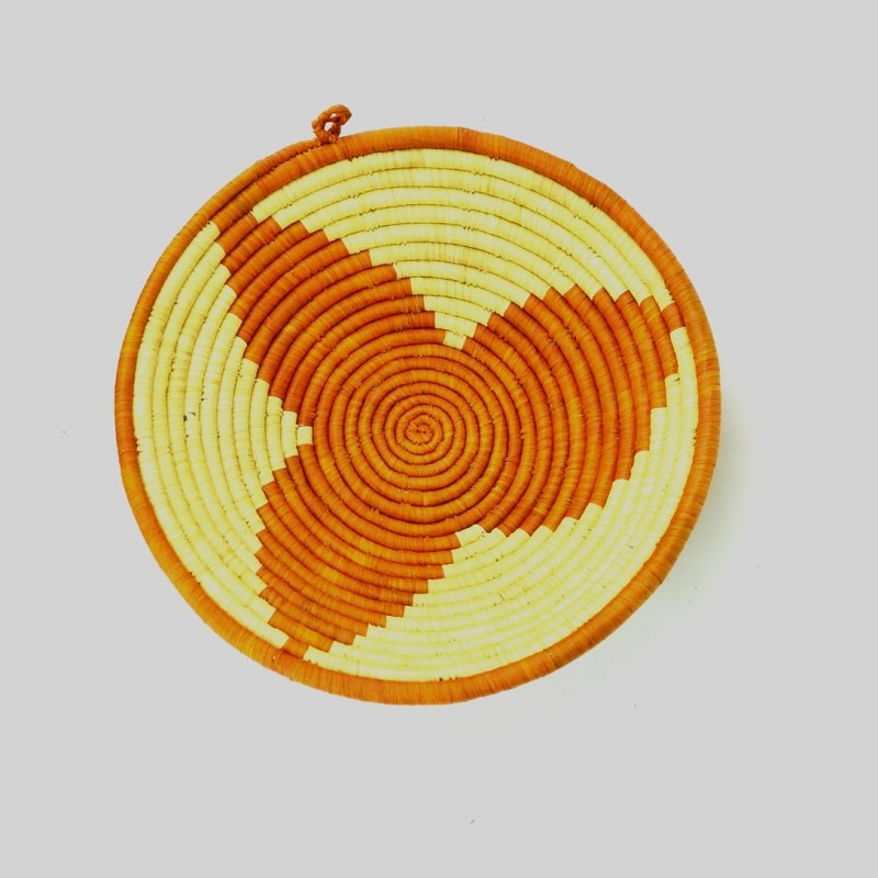 Uganda Handmade Banana Leaf/ Raffia Three Petals Basket