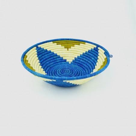 Uganda Handmade Banana Leaf/ Raffia Trillium Basket