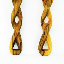 Olive Wood Salad Server With Twisted Handle