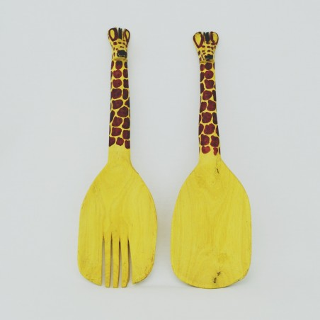 Giraffe Wood Salad Server