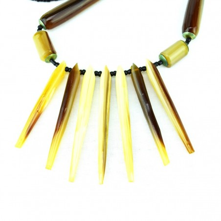 Cow Horn Spike Necklace