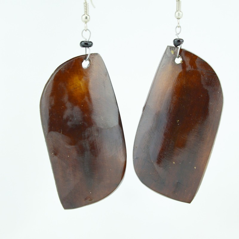 Leaf Shape Cow Horn Earrings
