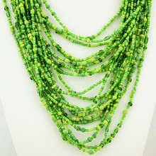 Green Strand Maasai Bead Necklace