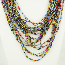 Multi Color Strand Maasai Bead Necklace