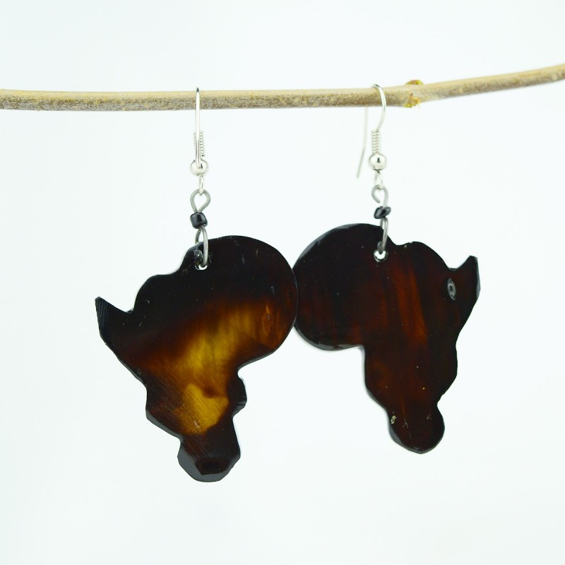 Africa Cow Horn Earrings