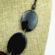 Tano Cow Horn Disk Necklace