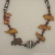Wildlife Animals Safari Necklace Wood