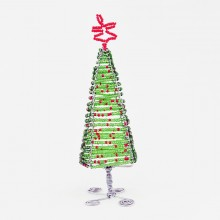 Maasai Bead Wire Christmas Tree