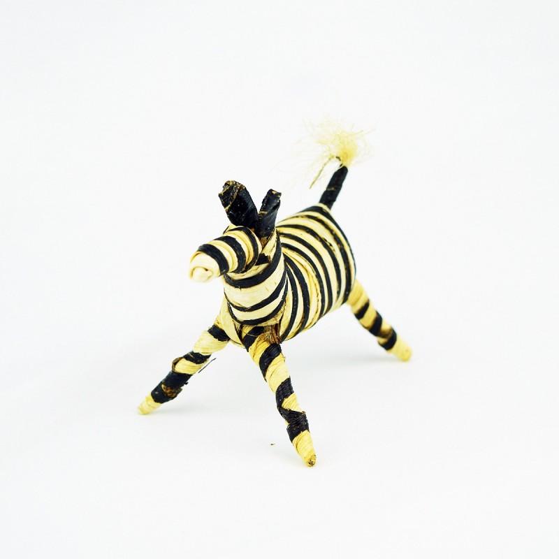 Handmade Banana Fiber Animal Zebra