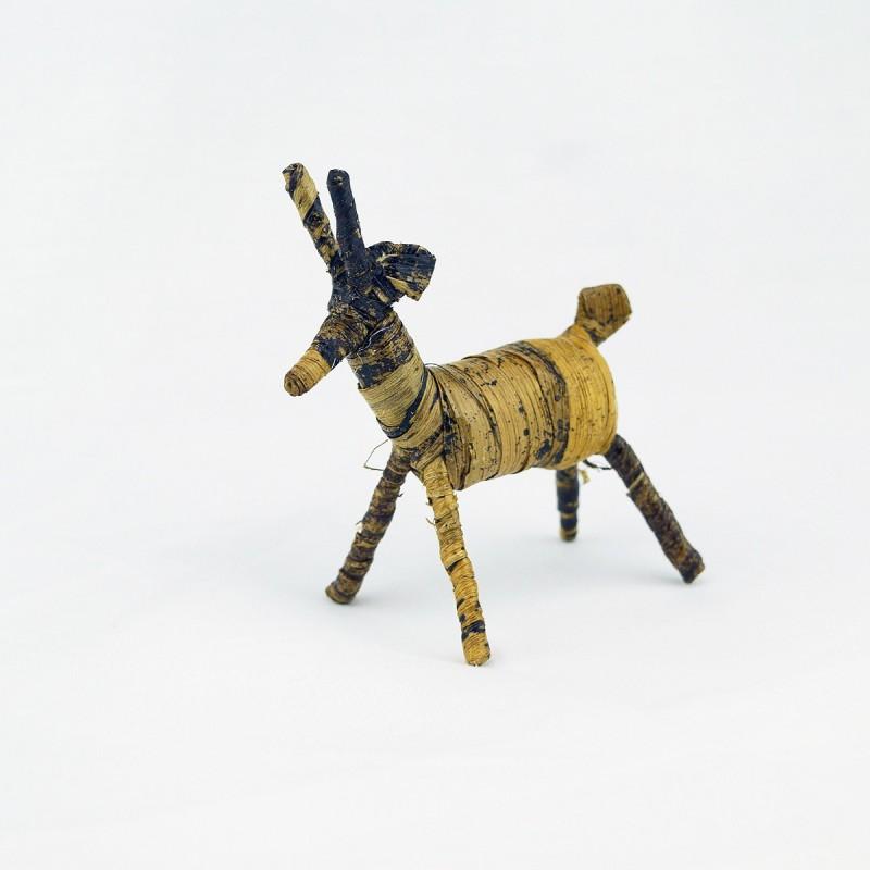 Handmade Banana Fiber Animal Christmas Reindeer