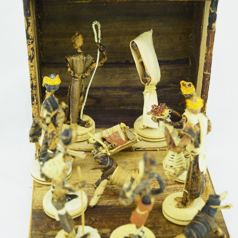 Handmade Banana Fiber Nativity Scene