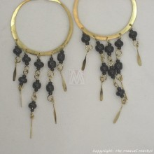 Brass Maasai Beads Chandelier Earrings