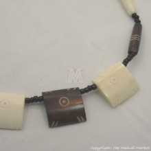 Brown/White Cow bone Choker Necklace
