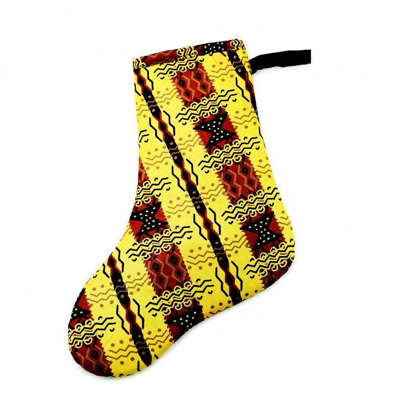 Small African Kitenge Christmas Stocking