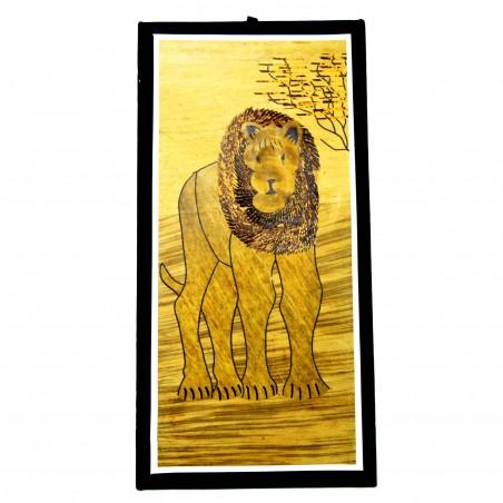 Lion Banana Fiber Art