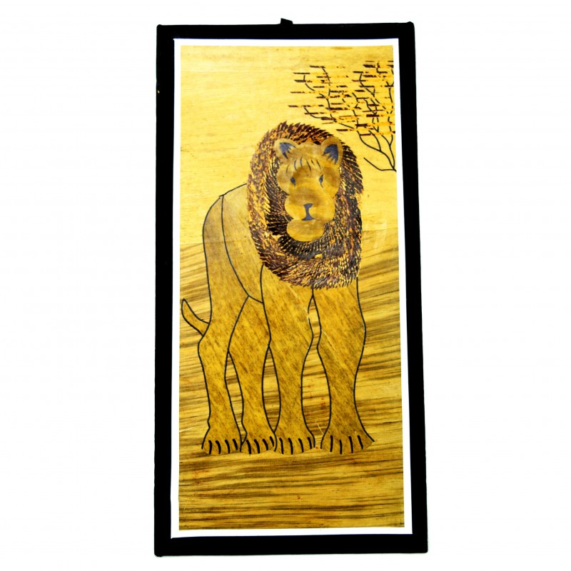 Lion Banana Fiber Art