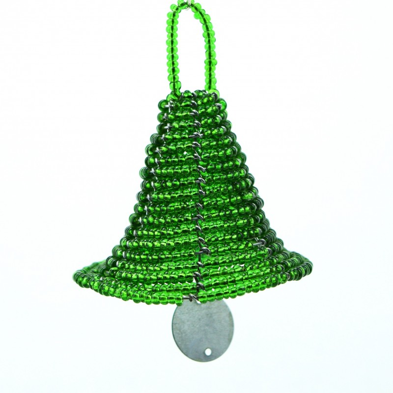 Maasai Bead Christmas Bell Ornament