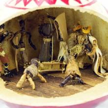 Handmade African Calabash Gourd Nativity Scene