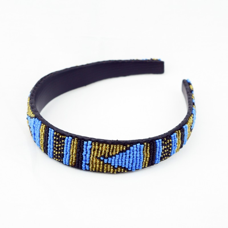 Maasai Bead Leather Headband