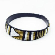 Maasai Bead Leather Headband
