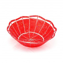 Maasai Bead Wire Bowl