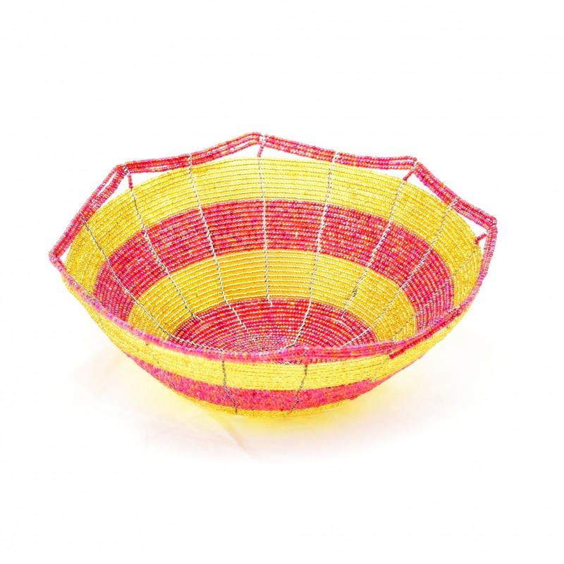 Maasai Bead Wire Bowl