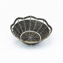 Small Maasai Bead Wire Bowl