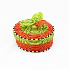 Maasai Bead Wire Jewelry Box