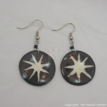 Cow Bone Solar Flare Maasai Earrings 599-60